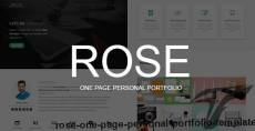Rose - One Page Personal Portfolio Template