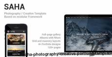 Saha - Photography / Creative Portfolio Template