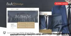 SaulsAttorneys - Lawyers & Attorneys HTML Theme Pack