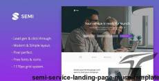 Semi - Service Landing Page Muse Template