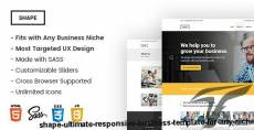 Shape - Ultimate Responsive Business Template for Any Niche