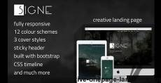 Signe - Creative One-Page Landing Page