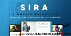 SiRA - Personal Business Card Template
