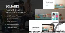 Soliaris - One Page Bootstrap Template