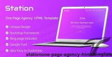 Station-One Page Agency HTML Template