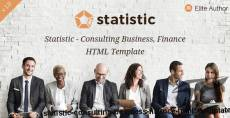 Statistic - Consulting Business, Finance HTML5 Template