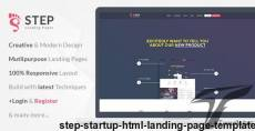 Step - Startup HTML Landing Page Template