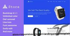 Store - Responsive Product Landing Page Template By thetemplatelaby