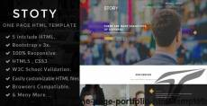 Story- one page portfolio HTML template
