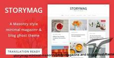 Storymag - Minimal Masonry Style Magazine and Blog Ghost Theme By gbjsolution