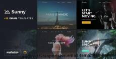 Sunny -  11 Responsive Email Templates + Builder