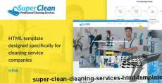Super Clean - Cleaning Services HTML Template