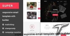 Super - Resposive Email Template with Builder