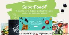 Superfood - A Vibrant Theme for Organic Food and Health Products