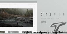 Sylvia - WordPress Blog Theme