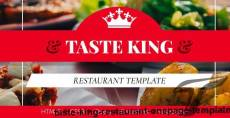 Taste King Restaurant One-Page Template