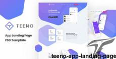 Teeno - App Landing Page By megasoftsolutions