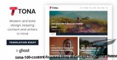 Tona - 1.0.0 - Content Focused Blog And Magazine Ghost Theme By gbjsolution