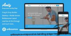 Unbounce Responsive Landing Page Template - Amity