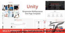 Unity - One Page Multipurpose Responsive Template