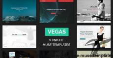 Vegas - Multipurpose One Page Muse Templates