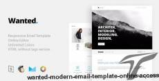 Wanted - Modern Email Template + Online Access