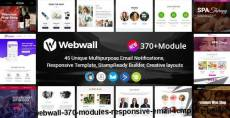 Webwall- 370+ Modules - Responsive Email Template + Builder By webwall