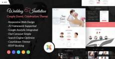 Wedding Invitation - Couple Event and Celebration Joomla Theme By webstrot