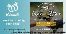Wiwadi - Wedding Coming Soon HTML Template By exsythemes