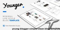 Young Blogger - Simple Clean Blog Template